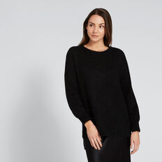 Cosy Knit  BLACK  hi-res