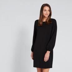 Blouson Sleeve Dress  BLACK  hi-res