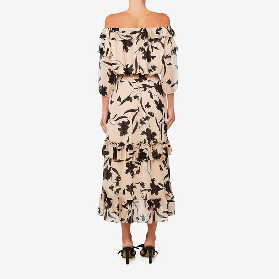 Tiered Frill Dress  FLORAL  hi-res
