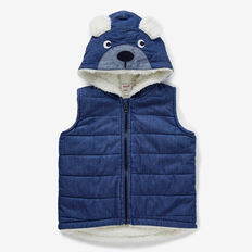 Chambray Sherpa Vest  MID CHAMBRAY  hi-res