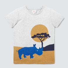 Rhino Flock Tee  BIRCH MARLE  hi-res
