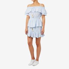 Flared Mini Skirt  SPRING BLUE  hi-res