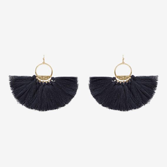 Fan Fringe Earrings  NAVY  hi-res