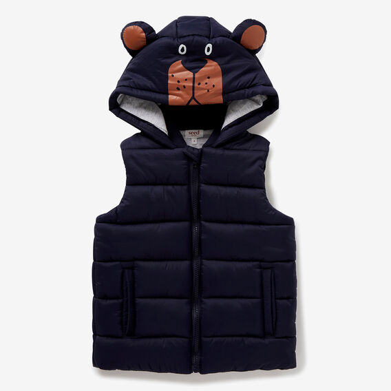 Novelty Puffa Vest  MIDNIGHT BLUE  hi-res