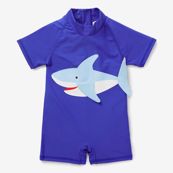 Shark Fin Rashie Suit  BLUE BOLT  hi-res