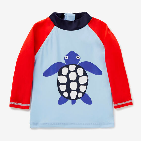 Novelty Turtle Rashie  NORDIC BLUE  hi-res