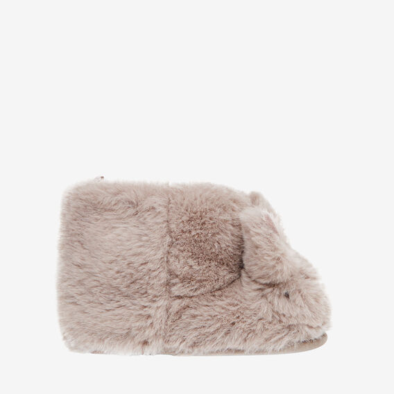 Fluffy Bunny Slippers  GREY  hi-res