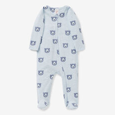 Bear Yardage Zipsuit  PACIFIC BLUE MARLE  hi-res
