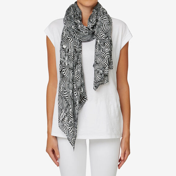Zebra Herd Scarf  BLACK/WHITE  hi-res
