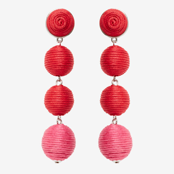 Two-Tone Drop Earring  RED/PINK  hi-res
