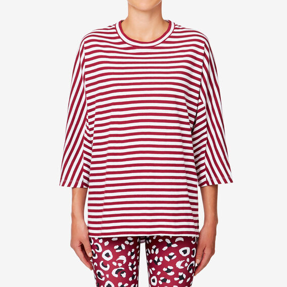 Scoop Tee  RASPBERRY STRIPE  hi-res