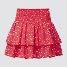 Pansy Print Skirt  STRAWBERRY  hi-res