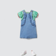 Gingham Smock Top  APPLE GREEN  hi-res