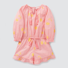 Cherry Yardage Playsuit  MUSK PINK  hi-res