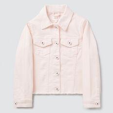 Frayed Denim Jacket  ICE PINK  hi-res