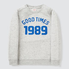 Chain Stitch Sweater  CLOUDY MARLE  hi-res