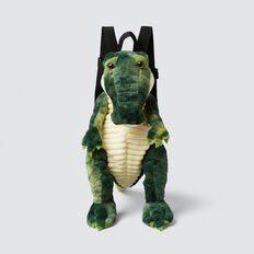 Plush Crocodile Backpack  GREEN  hi-res