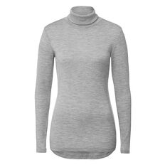 Baby Wool Roll Neck Knit  MID GREY MARLE  hi-res