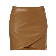 Collection Leather Wrap Skirt  TOFFEE  hi-res