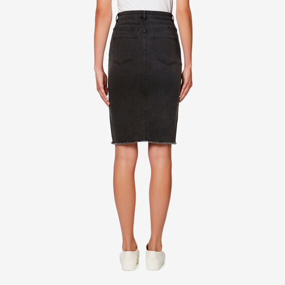 Denim Pencil Skirt  CHARCOAL DENIM  hi-res