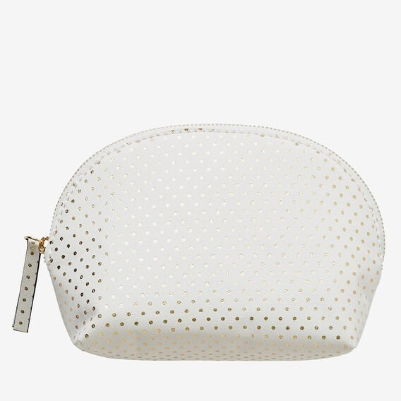 Half Moon Make Up Bag  WHITE  hi-res