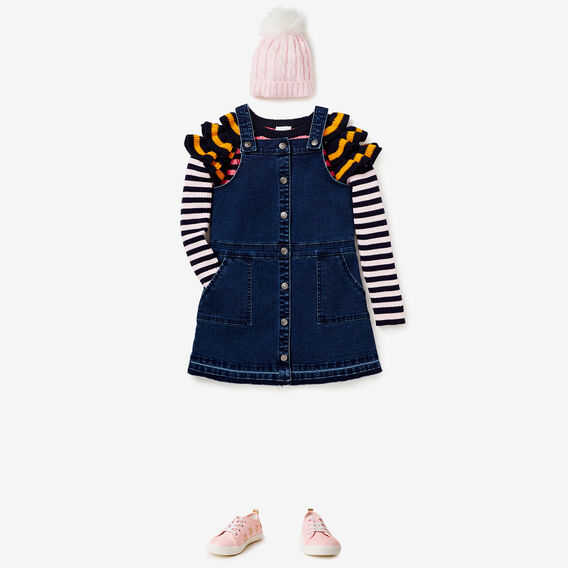 Stripe Frill Sweater  MULTI  hi-res