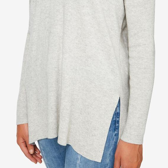 V-Neck Slouchy Sweater  LIGHT GREY MARLE  hi-res