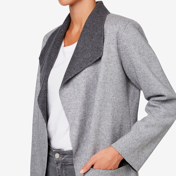 Double-Faced Coat  MID GREY MARLE  hi-res