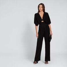 1ff722643a7 ... V-Neck Waisted Jumpsuit BLACK hi-res