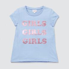 Girls Tee  CORNFLOWER  hi-res