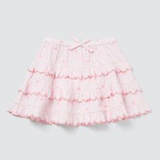 Seersucker Skirt  MUSK PINK  hi-res