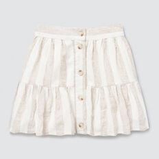 Stripe Skirt  WHITE/NATURAL  hi-res