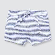 Slub Stripe Harem Short  VINTAGE WHITE  hi-res