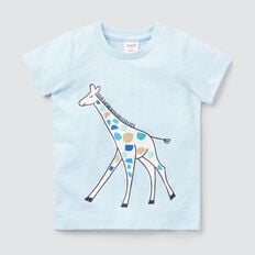 Giraffe Tee  PACIFIC BLUE  hi-res