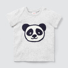 Chenille Panda Tee  CLOUDY MARLE  hi-res