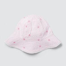 Stripe Daisy Sun Hat  MUSK PINK  hi-res