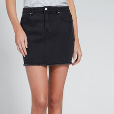 Denim Mini Skirt  WASHED BLACK  hi-res