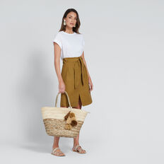 Drill Midi Skirt  BRONZE MIST  hi-res