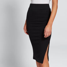Ribbed Jersey Skirt  BLACK  hi-res