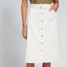 Longline Denim Skirt  BISQUE  hi-res