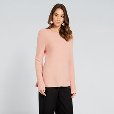 Peplum Swing Knit  CLAY PINK  hi-res