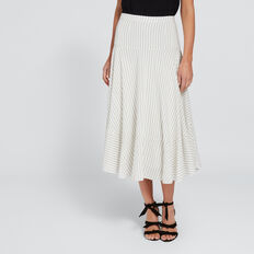 Striped Asymmetric Skirt  CLOUD CREAM STRIPE  hi-res