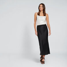 Satin Spot Skirt  SPOT  hi-res