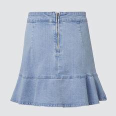 Ruffle Denim Skirt  BLUEBELLE WASH  hi-res