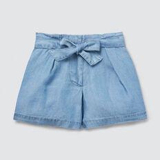 Tie Waist Shorts  LIGHT BLUE WASH  hi-res