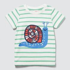Snail Stripe Tee  VINTAGE WHITE  hi-res