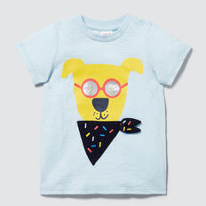 Bandana Puppy Tee  PACIFIC BLUE  hi-res
