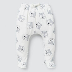Bear Yardage Footed Legging  CANVAS  hi-res