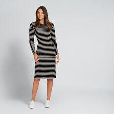 Stripe Dress  BISQUE/BLACK  hi-res