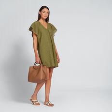 Broderie Dress  OLIVINE  hi-res